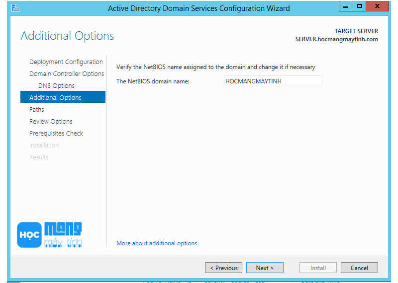 dc-domain controler windows server 2012 r2