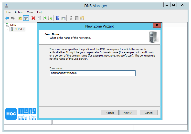 forward lookup zone dns server windows 2012 r2