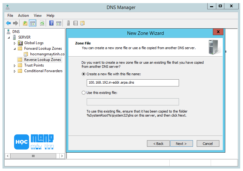 reverse-lookup-zone-dns-server