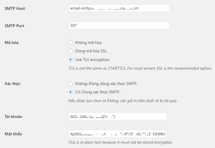 SMTP Setting WP Mail