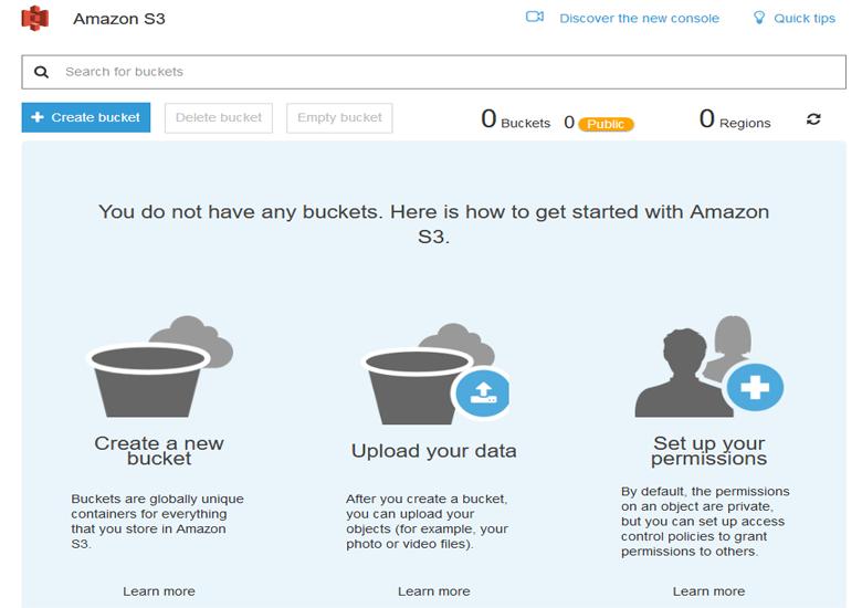 Trang chủ Amazon S3