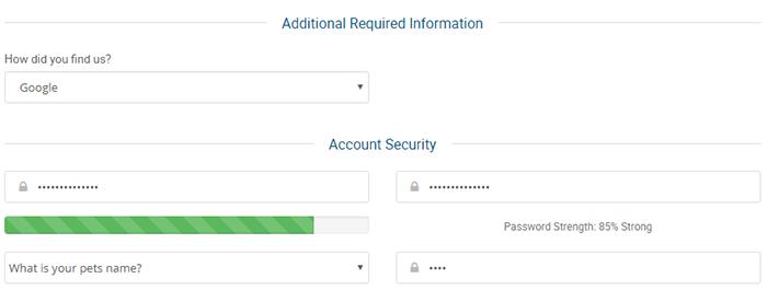 Thông tin mật khẩu Hosting