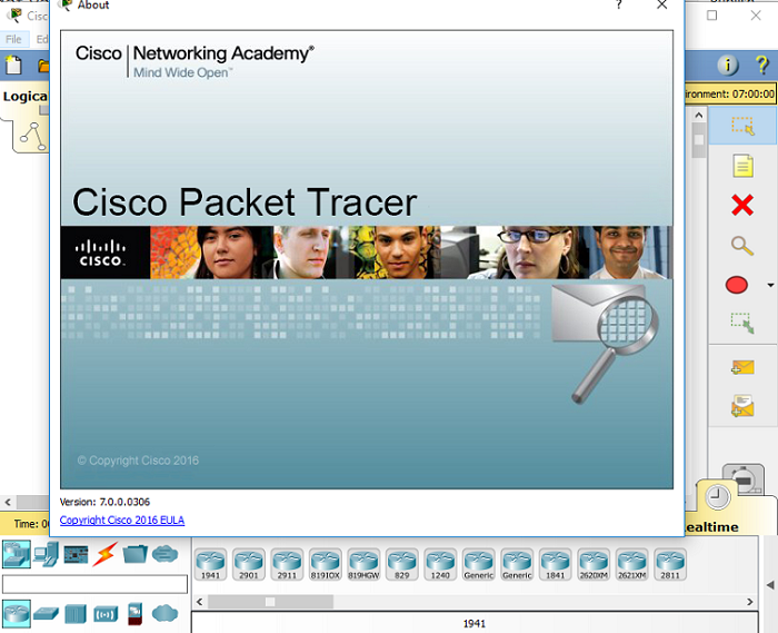 packet tracer version 7.0