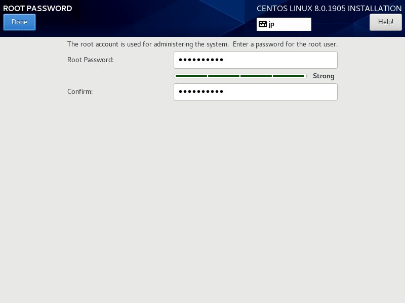 Cài đặt mật khẩu root centos 8