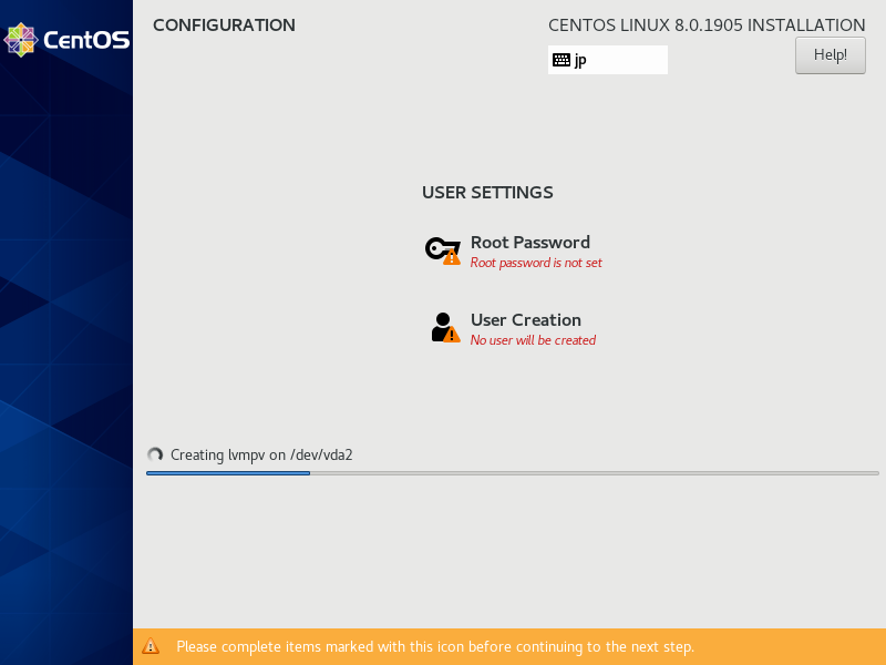 Cài đặt mật khẩu Centos 8