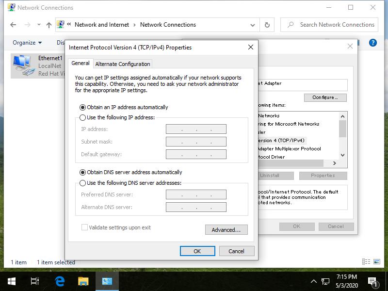 DHCP-Client-Windows centos 8